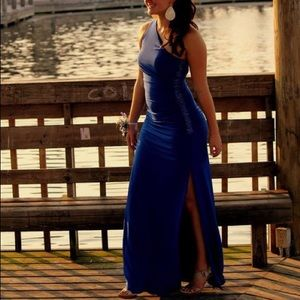 Cache Royal Blue Evening Gown